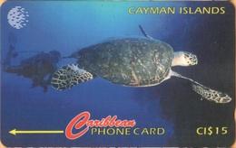 Cayman Island - CAY-47C, GPT, 47CCIC, Hawksbill Turtle, Diving, Scuba, Animals, 15$, 10.000ex, 1995, Used - Cayman Islands