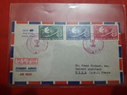 La Costa Rica Enveloppe Circulé Avec Timbres Des Années De La Paix 1950 - Costa Rica