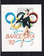 Laos Block 131 Mit 1199 ** Postfrisch Olympia 1992 Barcelona, MNH #RB629 - Laos