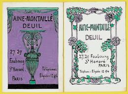 (Lot De 2) Maquette Originale Destinée Au Graveur Stern à Paris AINE-MONTAILLE DEUIL Faubourg St-Honoré 75008 - 1900 – 1949