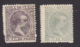 Cuba, Scott #135, 145, Mint Hinged, King Alfonso XIII, Issued 1890 - Cuba (1874-1898)
