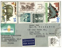 (150) Poland To Australia Cover - Posted In 1965 - With Dinosaur Stamps - Stamps