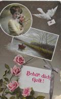 AK 0023  Behüt Dich Gott ( Patriotika ) Um 1919 - Frauen