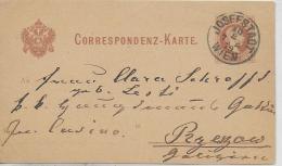 AK 0023  Correspondenz-Karte - Josefstadt Wien Um 1879 - Briefe U. Dokumente