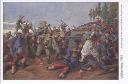 Weltkriege- Gemäldekarte - Eroberung Eines Französischen Geschützes  -  AK-13872 - Weltkrieg 1914-18