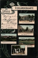 ! Alte Ansichtskarte Vaals, Gruss Aus Vierländerkarte, Aachen, Moresnet, Altenberg, Belgien - Vaals