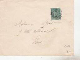 SAGE 5C N° 75 II - SEUL SUR LETTRE CACHET IMPRIMES  PP21 PARIS MARS 1889 -                                       TDA258 - 1876-1898 Sage (Type II)