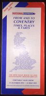 Britain National Express 31 October 1994-14 May 1995 Timetable - Europe