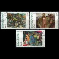 BULGARIA 1972 - Scott# 2007-9 Paintings 1-3s CTO - Gebraucht