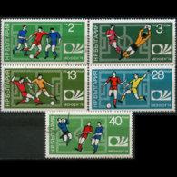 BULGARIA 1974 - Scott# 2166-70 Soccer 2-40s CTO - Gebraucht