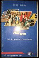 Belgium Railway - Timetable 2 June 1991 - 30 May 1992 - Europe