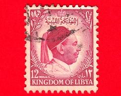 LIBIA - KINGDOM Of LIBYA - Usato - 1952 - Re Idris - 12 - Libia