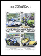 CENTRAL AFRICA 2018 MNH** Isle Of Man TT Race Motorcycles Motorräder Motos M/S - OFFICIAL ISSUE - DH1832 - Moto