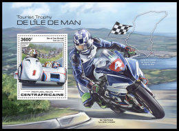 CENTRAL AFRICA 2018 MNH** Isle Of Man TT Race Motorcycles Motorräder Motos S/S - IMPERFORATED - DH1832 - Moto