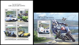 CENTRAL AFRICA 2018 MNH** Isle Of Man TT Race Motorcycles Motorräder Motos M/S+S/S - IMPERFORATED - DH1832 - Moto
