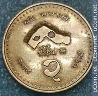Nepal 2 Rupees, 2054 (1997) Visit Nepal - Népal