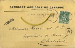 Genappe : Syndicat Agricole  1914  -  2  Scans - Genappe