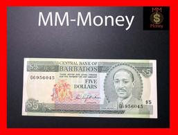 BARBADOS 5 $ 1975 P. 32  VF - Barbados