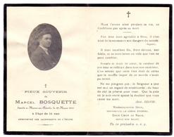 Devotion - Doodsprentje Image Mortuaire - Marcel Bosquette - Mons En Pévèle - 29 Mars 1919 - Décès