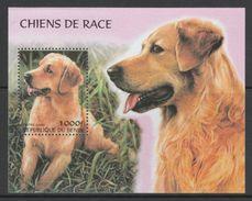 BLOC NEUF DU BENIN - CHIENS DE RACE : GOLDEN RETRIEVER - Chiens