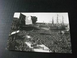 STORIA POSTALE  FRANCOBOLLO ITALIA BASILICA S. FRANCESCO NAVE SHIP VELIERO GUERRA PARATA TRIESTE 1954 PRESENZA EINAUDI - Guerra