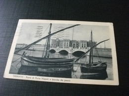 STORIA POSTALE  FRANCOBOLLO ITALIA REGNO AUGUSTO BARCHE PESCA PONTE DI PORTA NAPOLI TARANTO - Pesca