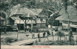 ! Alte Ansichtskarte Malaysia Johore Malay Campong, Edit. Lambert Singapore - Malaysia