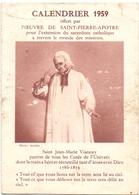 Kalender Calendrier - Devotie Devotion - Saint Jean Marie Vianney - 1959 - Calendriers