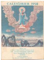 Kalender Calendrier - Devotie Devotion - 1958 - Calendriers