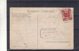 Palestine - Carte Postale De 1918 - Oblit Post Office - Exp Vers Edinbourgh ? - Vue Porte De Damas - Avec Censure - Palestina