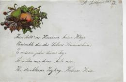 AK M 1  Alter Handgeschriebener Brief Ohne Kuvert  - St. Gotthard Am 13. 10. 1883 - Mitteilung