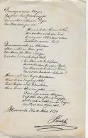 AK M 1  Handgeschriebenes Gedicht - 4. März 1891 - Mitteilung