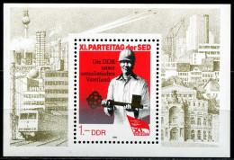 DDR - Mi Block 83 = 3013 - ** Postfrisch - 1M  Parteitag Der SED 86 - [6] Oost-Duitsland