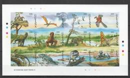 Z1241 !!! IMPERFORATE GUYANA FAUNA REPTILES DINOSAURS 1SH MNH - Briefmarken
