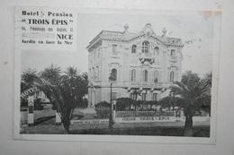 """06 : Nice - Hôtel Pension """" Trois Epis """" - Cafés, Hotels, Restaurants"""