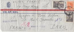 1 LETTRE PAR AVION POUR PARIS - BY HONK KONG - 1940 - Philippines