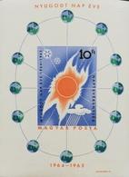 Hungary 1965 Intl. Quiet Sun Year S/S Imperf. - Hongrie