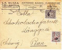 LETTRE POUR LA SUISSE - MAISON CHOCOLAT TOBLER A BERN - 1936 - Paraguay