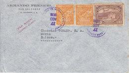 LETTRE POUR LA SUISSE - MAISON CHOCOLAT TOBLER A BERN - 1938 - Salvador