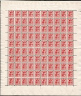 1921 G.D. Charlotte:30c Rose, Neuf, Feuille Entière à100,sans Charnière: Michel:129 (2scans) - Full Sheets