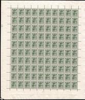 1921 G.D. Charlotte:3c Olive, Neuf, Feuille Entière à100, Sans Charnière: Michel:123 (2scans) - Full Sheets