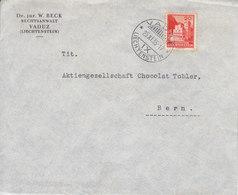 LETTRE POUR LA SUISSE - MAISON CHOCOLAT TOBLER A BERN - 1935 - Covers & Documents