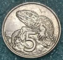 New Zealand 5 Cents, 1980 - New Zealand