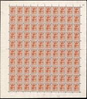 1921 G.D. Charlotte:40c Orange-brun, Neuf, Feuille Entière à100, Sans Charnière: Michel:130 (2scans) - Full Sheets