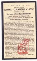 DP Emma Camerlynck / DeMeerseman ° Stavele Alveringem 1882 † Brielen Ieper 1929 - Images Religieuses