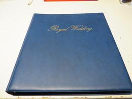 ROYAL  WEDDING  1981  ABO - SLG.  Mit VORDRUCKSEITEN  Im  BINDER  Und  2  BILDBÄNDER - Timbres