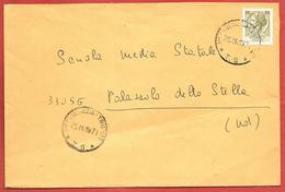 BUSTA VG ITALIA - ORDINARIA - Siracusana Isolato - 12 X 18 - ANN. 1971 MESS. VENEZIA TRIESTE - PALAZZOLO DELLO STELLA - 6. 1946-.. Repubblica