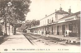 HYERES-LES-PALMIERS (83) La Gare P.L.M. En 1917 (P.L.M. Station) - Hyeres
