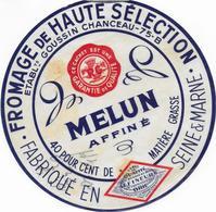 ETIQUETTE    DE FROMAGE  DUC DE CHAMPAGNE   16 CM  75 B GENTILLY MELUN AFFINE SEINE ET MARNE GOUSSIN CHANCEAU - Fromage