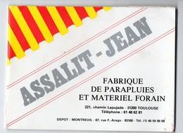 Toulouse (31 Haute Garonne) échantillons Des Toiles Pour Parapluies Forains JEAN ASSALIT  (PPP14761) - Advertising